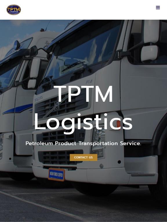 เว็บไซต์ TPTM Logistics (บริการที่ใช้ : รับสร้างเว็บไซต์) ขนาดหน้าจอ Tablet