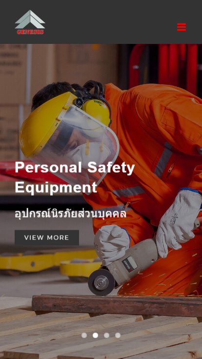 เว็บไซต์ Genesis Thai (บริการที่ใช้ : รับสร้างเว็บไซต์) ขนาดหน้าจอมือถือ