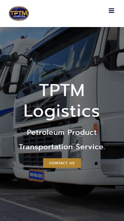 เว็บไซต์ TPTM Logistics (บริการที่ใช้ : รับสร้างเว็บไซต์) ขนาดหน้าจอมือถือ
