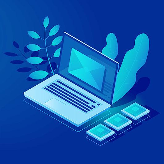 โน๊ตบุ๊คแสดงผลอีเมลระดับองค์กร (Business Email)
